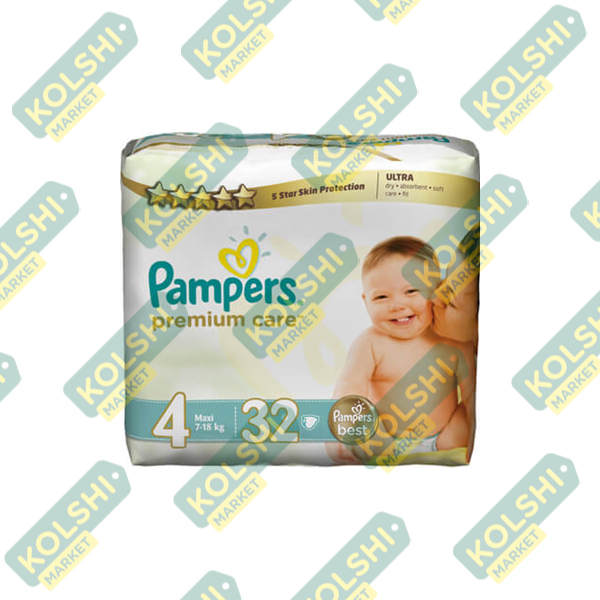 Pampers Couche Premium N4 32P